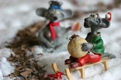 mysz świąteczne Zdjęcia Royalty Free