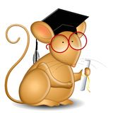 mysz absolwenta college royalty ilustracja