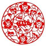 mysz chiński zodiak ilustracji