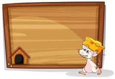 Mysz i znak Zdjęcia Stock