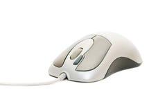 mysz kablowy komputerowy biel Fotografia Stock