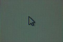 Mysz kursor na LCD RGB matrycy obraz royalty free