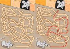 Mysz labirynt royalty ilustracja