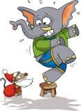 mysz Santa Obraz Royalty Free