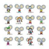 Mysz set Obrazy Royalty Free