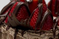 Mysz truskawkowy tort fotografia stock