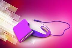 Mysz z kartoteki falcówką Fotografia Stock