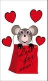 Mysz z kupującymi Zdjęcie Stock