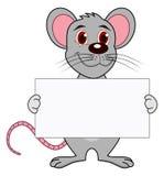 Mysz z plakatem Zdjęcie Royalty Free
