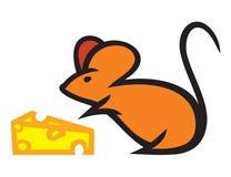 Mysz z serem Zdjęcia Stock