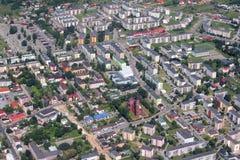 Myszkow, Poland. Myszkow in Silesia Province, Poland. Aerial view royalty free stock photography