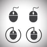 Myszy ikona Zdjęcia Royalty Free