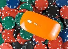 myszy kasyno uprawia hazard układu scalonego grzebaka zdjęcie royalty free