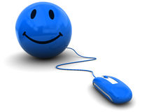 myszy komputerowy smiley Zdjęcie Stock