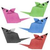 myszy origami papercraft przetwarzający Zdjęcia Stock