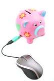 myszy piggybank Zdjęcie Stock