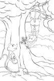 Myszy w miłości w lesie Obraz Royalty Free