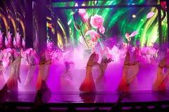 Myten av samurajerna--Den historiska magiska magin för stilsång- och dansdrama - Gan Po Arkivfoto