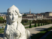 Myth. Statu in Garden of Belvedere palace Stock Image