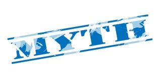 Myth blue stamp. Isolated on white background Stock Illustration