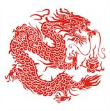 Myth dragon. Legendary very severe animal vector illustration