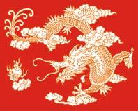 Myth dragon. Legendary very severe animal Stock Image