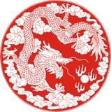 Myth dragon. Legendary very severe animal Royalty Free Stock Photography