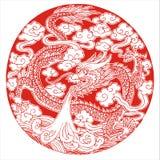 Myth dragon. Legendary very severe animal royalty free illustration