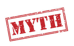 Myth red stamp. On white background Stock Photography