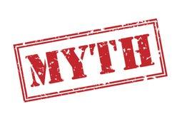 Myth red stamp. On white background Vector Illustration