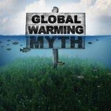 Mythe de réchauffement global illustration stock