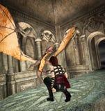 Mythic explorer royalty free stock photography
