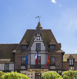 Mythic french townhall in deauville Stock Photo