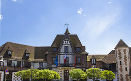 Mythic french townhall in deauville Royalty Free Stock Photography