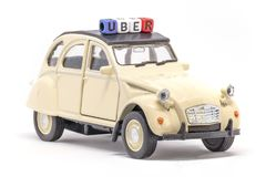 French Uber concept stock photo