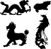 Mythical animal. The four ancient Chinese myth of animals Royalty Free Stock Photography