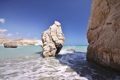 Mythical Aphrodite's Rock, Cyprus Stock Images