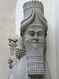 Mythical beast of Assyria,. Louvre Museum, Paris , France royalty free stock images
