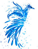 Mythical blue bird on white Royalty Free Stock Photography
