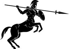 Mythical Centaur Spear Warrior Stock Images