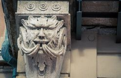 Carved column siena italy Royalty Free Stock Images
