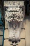Carved column siena italy Stock Photos