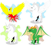 Mythical creatures Stock Images