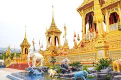 Mythical creatures in an Anodat pond for royal of Thai kings 171105 0092. Mythical creatures in an Anodat pond for royal of Thai kings stock image