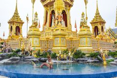 Mythical creatures in an Anodat pond for royal of Thai Kings 171105 0146. Mythical creatures in an Anodat pond for royal of Thai Kings royalty free stock image