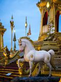 Mythical creatures of Himvanta. Bangkok Thailand, November 11, 2017 : Horse-like mythical creatures of Himvanta around The Royal crematorium of King Rama IV Stock Images