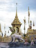 Mythical creatures of Himvanta. Bangkok Thailand, November 11, 2017 : Lion-like mythical creatures of Himvanta around The Royal crematorium of King Rama IV Royalty Free Stock Image