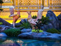 Mythical creatures of Himvanta. Bangkok Thailand, November 11, 2017 : Swan-like mythical creatures of Himvanta around The Royal crematorium of King Rama IV Stock Photography