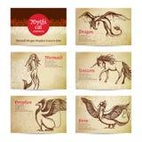 Mythical Creatures Set Stock Photo