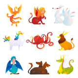 Mythical And Fantastic Creatures Set Stock Images
